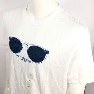 Michael Kors Sunglass Resort White XL Print Shirt